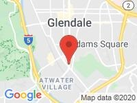 Map of FUTURE AUTO SALES, INC. at 1711 South Brand Blvd., Glendale, CA 91204