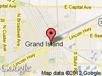 Map of Grand Island at 204 E. 2nd, Grand Island, NE 68801
