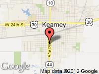 Map of Kearney at 1422 Second Ave., Kearney, NE 68847