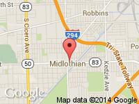Map of www.CARS147.com at 3934 w 147th st., Midlothian, IL 60445