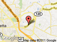 Map of Marietta Sportscar Co. at 1616 Roswell Rd., Marietta, GA 30062