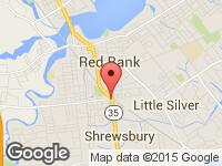 Map of AUTO EXOTICA INC at 6 NEWMAN SPRINGS ROAD EAST, Red Bank, NJ 07701