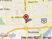 Map of GERALD AUTO SALES at 314 S. LARKIN, Joliet, IL 60436