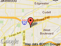 Map of PATRIOT AUTO SALES at 12018-12100 LORAIN AVE., Cleveland, OH 44111