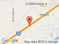 Map of I90 Motors & RV at 8810 Sundance Dr, Billings, MT 59101-6221