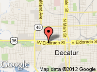 Map of M & M MOTORS INC. at 901 W. ELDORADO ST., Decatur, IL 62522