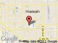 Map of RR Auto Sales, Inc. at 2510 Palm Ave., Hialeah, FL 33012