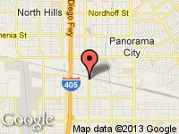 Map of Century Auto Sport at 7854 Sepulveda Blvd, Van Nuys, CA 91405