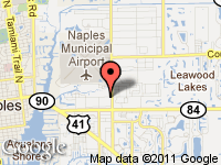 Map of STEARNS MOTORS OF NAPLES at 1200 AIRPORT ROAD SOUTH, Naples, FL 34104