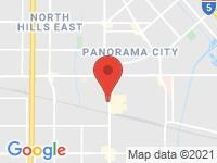 Map of Auto Market Inc. at 14485 RAYMER ST., Van Nuys, CA 91405