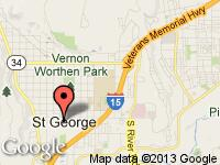 Map of St. George, Utah at Specialties Automotive Group, LLC, St. George, UT 84770-2625