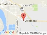 Map of Courtesy Auto & RV Center at 1405 Crater Lake Parkway, Klamath Falls, OR 97603