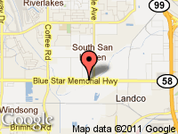 Map of A-1 AUTO SALES & LOAN at 6628 Rosedale Hwy, Bakersfield, CA 93308