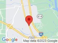 Map of Davis Auto Sales at 10016 Jefferson Davis Hwy, Richmond, VA 23237