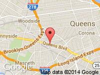 Map of Yes Auto Inc at 74-02 Queens Blvd., Woodside, NY 11373