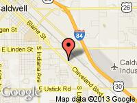 Map of Performance Auto Group at 3623 Cleveland Blvd, Caldwell, ID 83605