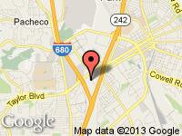 Map of Elite Motor Cars at 1671 Challenge Drive, Concord, CA 94520