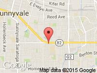 Map of Excel Auto at 964 E. El Camino Real, Sunnyvale, CA 94087