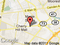 Map of AutoMax Inc. at 464 Rt 38 East, Maple Shade, NJ 08052