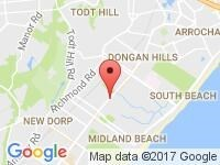 Map of STATEN ISLAND at 2018 Hylan Blvd, Staten Island, NY 10306