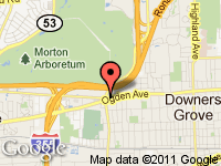 Map of ULTIMATE MOTOR CARS at 2101 Ogden Ave., Downers Grove, IL 60515