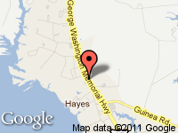 Map of Hayes Auto Sales at 2753 George Washington Memorial Hwy, Hayes, VA 23072