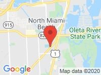 Map of Kessler Auto Group, Inc at 2024 NE 155th St., Miami, FL 33162