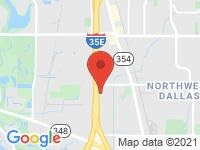 Map of Texas Carz at 2399 Midway Rd, Carrollton, TX 75006