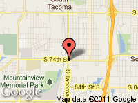 Map of Cars R Us at 7401 S. Tacoma Way, Tacoma, WA 98409