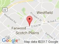 Map of Coops Cars at 1216 South Ave West, Westfield, NJ 07090