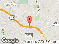 Map of EAST COAST MOTORS at 3633 E. INDEPENDENCE BLVD., Charlotte, NC 28205