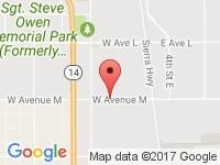 Map of Sun Auto Finance at 633 Columbia Way, Palmdale, CA 93551