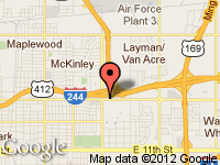 Map of Romeros Auto Center at 8235 E. Admiral Pl, Tulsa, OK 74115