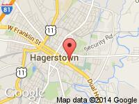 Map of City Cars at 340 Dual Hwy, Hagerstown, MD 21740
