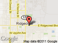 Map of American Dream Auto Sales at 239 E. Ridgecrest Blvd, Ridgecrest, CA 93555