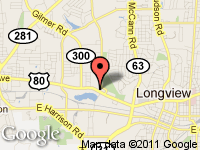 Map of Rick's  Auto Sales at 1201 West Marshall, Longview, TX 75604