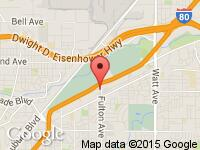 Map of Lending Club Auto at 3501 Fulton Ave., Sacramento, CA 95821