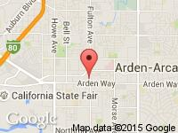 Map of West Coast Auto Sales Center at 1733 Fulton Ave, Sacramento, CA 95825