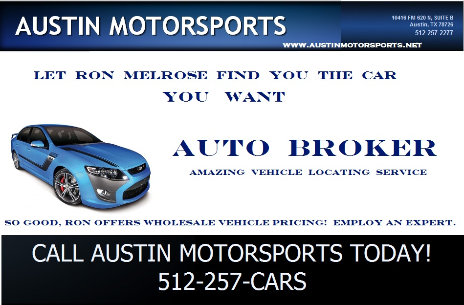 let austin motorsports be your broker - How To Become A Auto Broker