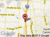 Map of Motion Autosport at 7179 Sunset Strip Ave., North Canton, OH 44720