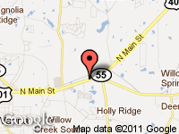Map of Williams Used Cars Inc at 1532 N Main St, Fuquay Varina, NC 27526