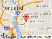 Map of Luxury Motors Online,Inc. at 1020 SE Market Street, Portland, OR 97214