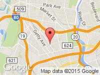 Map of SILKCITYAUTOMALL.COM at 290 Pennsylvania Ave, Paterson, NJ 07503