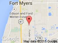 Map of Auto Haus Of Fort Myers at 3322 Fowler St., Fort Myers, FL 33901
