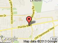 Map of Ascension Auto Sales at 11672 FLORIDA BLVD, Baton Rouge, LA 70815
