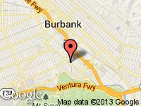 Map of iCars.net at 1220 S Victory Blvd, Burbank, CA 91502