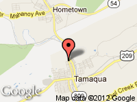 Map of Tamaqua 309 Auto Sales LLC at 700 North Railroad Street, Tamaqua, PA 18252