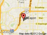 Map of Tiger Auto Sales at 410 El Cajon Blvd, El Cajon, CA 92020