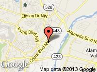 Map of Integrity Automotive at 9790 Coors Blvd NW, Albuquerque, NM 87114
