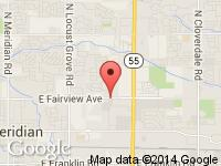 Map of Mike Virden Auto and RV Sales at 2653 E Fairview Ave, Meridian, ID 83642